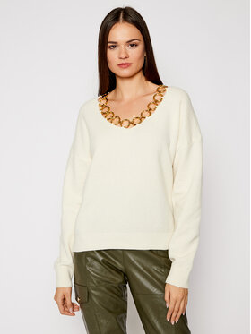 Pinko Pinko Pull UNIQUENESS Leoncavallo PE21 UNQS 1Q1084 Y16Y Beige Regular Fit