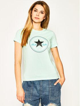 Converse Converse T-shirt Chuck Taylor Patch Nova 10017759-A09 Zelena Regular Fit