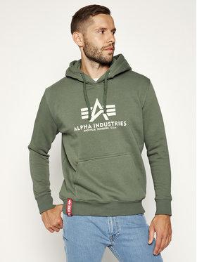 Alpha Industries Alpha Industries Bluză Basic 178312 Verde Regular Fit