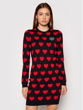 LOVE MOSCHINO LOVE MOSCHINO Sukienka dzianinowa WS63R11XA115 Czarny Regular Fit