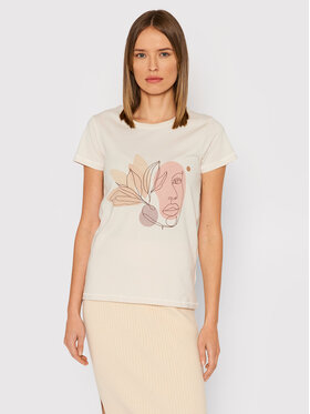 Outhorn Outhorn T-Shirt TSD616 Beżowy Regular Fit