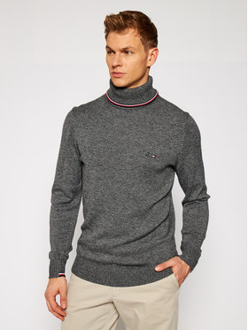 Tommy Hilfiger Tailored Tommy Hilfiger Tailored Пуловер MERCEDES-BENZ Warm Roll Neck TT0TT08425 Сив Regular Fit