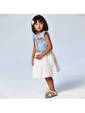 Mayoral Mayoral Φόρεμα καθημερινό 3945 Λευκό Regular Fit