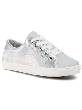 Geox Geox Sneakers aus Stoff J Gisli G. A J024NA 0NFBC C0434 S Silberfarben