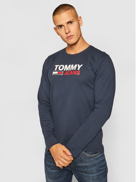 Tommy Jeans Tommy Jeans S dlhými rukávmi Crop Logo DM0DM09487 Tmavomodrá Regular Fit
