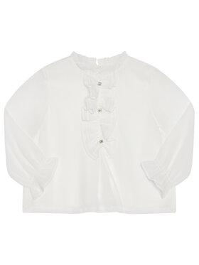 Mayoral Mayoral Μπλουζάκι 4150 Λευκό Regular Fit
