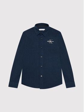 Calvin Klein Jeans Calvin Klein Jeans Πουκάμισο Str Poplin IB0IB00704 Σκούρο μπλε Regular Fit