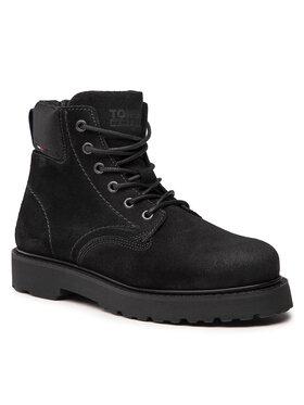 Tommy Jeans Tommy Jeans Outdoorová obuv Short Lace Up Tommy Jeans Boot EM0EM00830 Čierna