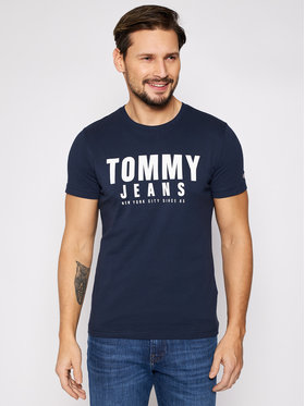 Tommy Jeans Tommy Jeans Tričko Tjm Center Chest Graphic DM0DM10243 Tmavomodrá Regular Fit