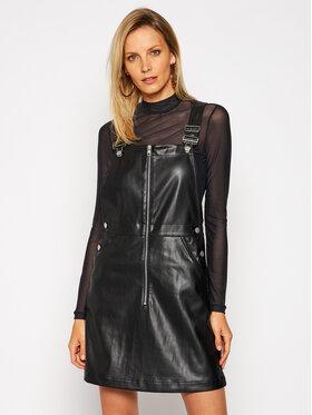 Calvin Klein Jeans Calvin Klein Jeans Dirbtinės odos suknelė Dungaree J20J215033 Juoda Regular Fit