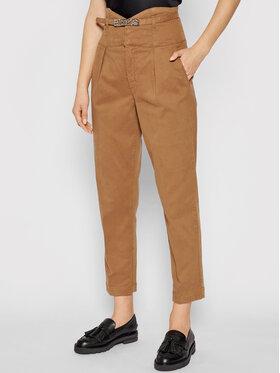 Pinko Pinko Παντελόνι υφασμάτινο Ariel 1J10QT Y78Y Καφέ Regular Fit