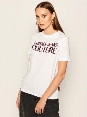Versace Jeans Couture Versace Jeans Couture Marškinėliai B2HZA7KF Balta Slim Fit
