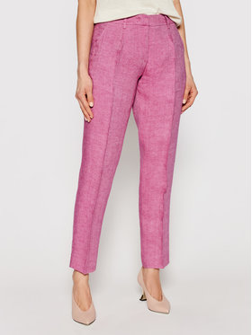 Weekend Max Mara Weekend Max Mara Pantaloni din material Manna 51310411 Roz Regular Fit