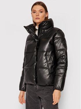 Calvin Klein Calvin Klein Bunda z imitace kůže K20K203149 Černá Regular Fit