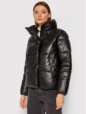 Calvin Klein Calvin Klein Bunda z imitácie kože K20K203149 Čierna Regular Fit