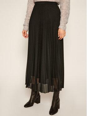 Marella Marella Plesirana suknja Brama 37760109 Crna Regular Fit