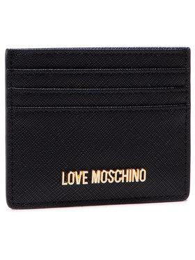 LOVE MOSCHINO LOVE MOSCHINO Puzdro na kreditné karty JC5563PP0ALQ0000 Čierna
