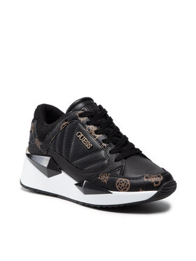 Guess Guess Sneakersy Traves FL7TRS FAL12 Czarny