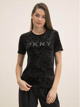 DKNY DKNY Póló P9JHLCFN Fekete Regular Fit
