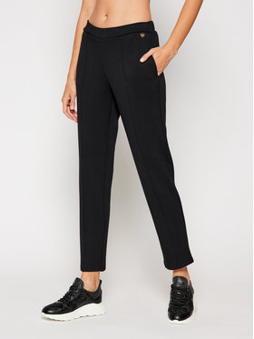 TwinSet TwinSet Spodnie dresowe 202TT2T25 Czarny Regular Fit