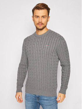 Tommy Jeans Tommy Jeans Pull Essential Cable DM0DM08807 Gris Regular Fit