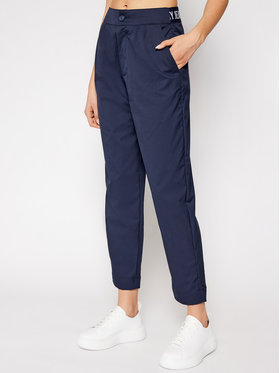 Tommy Jeans Tommy Jeans Medžiaginės kelnės Tjw Shrs Pleated DW0DW09736 Tamsiai mėlyna Tapered Fit