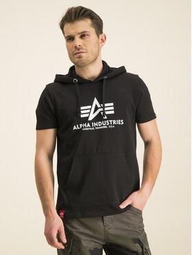 Alpha Industries Alpha Industries Μπλούζα Basic T Hooded 126507 Μαύρο Regular Fit