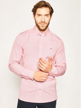TOMMY HILFIGER TOMMY HILFIGER Košile Overhemd MW0MW12812 Růžová Slim Fit