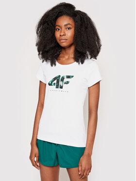 4F 4F T-Shirt H4L21-TSD030 Biały Regular Fit