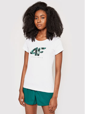 4F 4F Tričko H4L21-TSD030 Biela Regular Fit