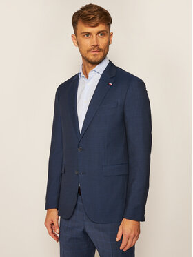 Tommy Hilfiger Tailored Tommy Hilfiger Tailored Sako Macro Separate TT0TT07506 Tmavomodrá Slim Fit