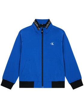 Calvin Klein Jeans Calvin Klein Jeans Demisezoninė striukė Logo Elastic IB0IB00721 Mėlyna Regular Fit