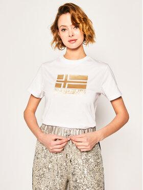 Napapijri Napapijri T-Shirt Shyamoli NP0A4E3U0 Biały Regular Fit