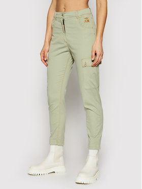 Aeronautica Militare Aeronautica Militare Pantalon en tissu 211PA1448DCT2868 Vert Comfort Fit