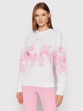 KARL LAGERFELD KARL LAGERFELD Sweatshirt Tie-Dye Logo 215W1803 Blanc Regular Fit