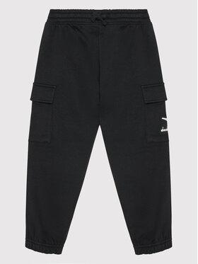 Diadora Diadora Teplákové kalhoty Cuff Hoopla 102.177811 Černá Regular Fit