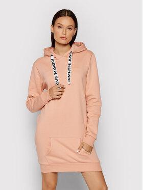 HYPE HYPE Sukienka dzianinowa YWF-517 Różowy Regular Fit