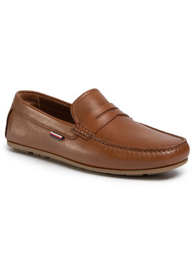 TOMMY HILFIGER TOMMY HILFIGER Μοκασίνια Classic Leather Penny Loafer FM0FM02719 Καφέ