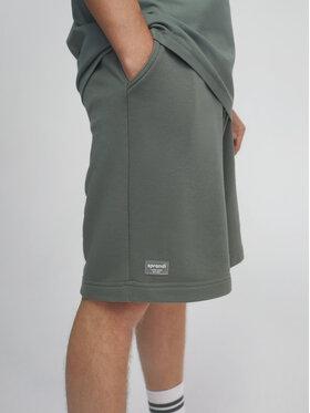 Sprandi Sprandi Pantaloni scurți sport SS21-SHM003 Verde Regular Fit