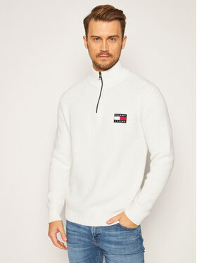 Tommy Jeans Tommy Jeans Пуловер Tommy Badge DM0DM08809 Бял Regular Fit