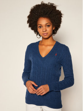 Polo Ralph Lauren Polo Ralph Lauren Sweter Kimberly Wool/Cashmere 211508656071 Granatowy Regular Fit