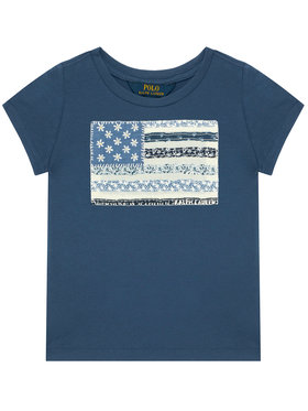 Polo Ralph Lauren Polo Ralph Lauren T-Shirt SS Flag Tee 313785446002 Dunkelblau Regular Fit