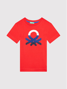 United Colors Of Benetton United Colors Of Benetton T-shirt 3096C1525 Rosso Regular Fit