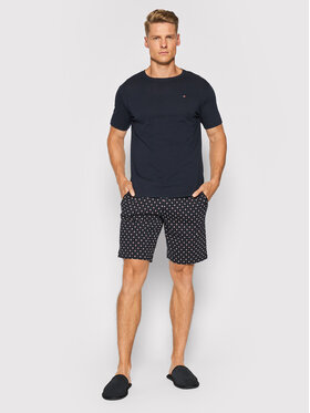 Tommy Hilfiger Tommy Hilfiger Πιτζάμα Cn Ss Short Jersey Set Print UM0UM02319 Σκούρο μπλε