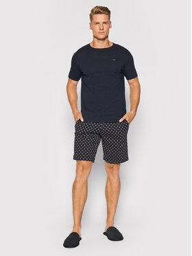Tommy Hilfiger Tommy Hilfiger Pyžamo Cn Ss Short Jersey Set Print UM0UM02319 Tmavomodrá