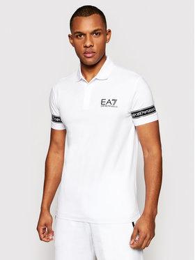 EA7 Emporio Armani EA7 Emporio Armani Тениска с яка и копчета 3KPF04 PJ03Z 1100 Бял Regular Fit