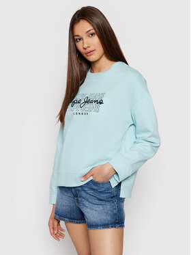 Pepe Jeans Pepe Jeans Bluza Bere PL581076 Zielony Regular Fit
