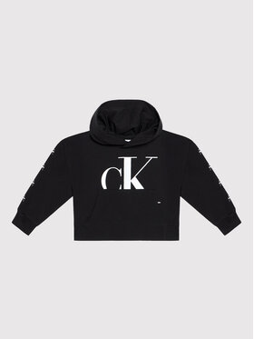 Calvin Klein Jeans Calvin Klein Jeans Суитшърт Mini Monogram IG0IG01007 Черен Regular Fit