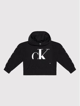 Calvin Klein Jeans Calvin Klein Jeans Sweatshirt Mini Monogram IG0IG01007 Schwarz Regular Fit