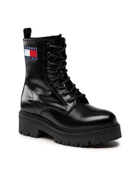 Tommy Jeans Tommy Jeans Trapery Urban Tommy Jeans Lace Up Boot EN0EN01546 Czarny